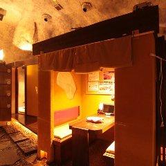 """★幻想的な洞窟のような店内と""""パオ風""""かまくら個室。"""